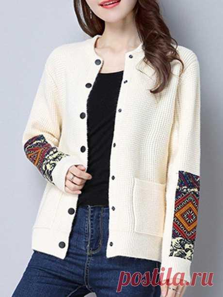 Langarm Ethnisch Pullover – glamtome