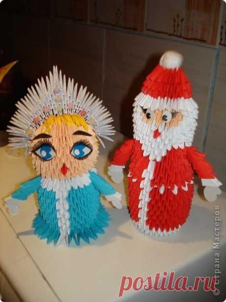 Модульное оригами - Дед Мороз и Снегурочка МК Новому году