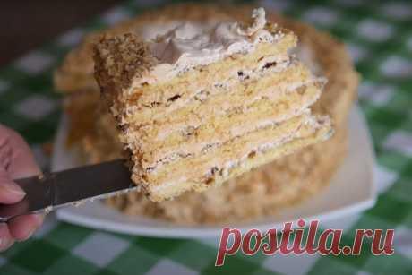 Торт из готового слоеного теста «Арлекин» — замена «Наполену»