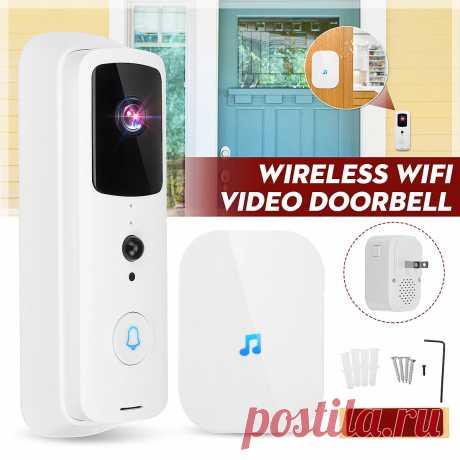 Wireless WiFi Video Doorbell Smart Phone Door Ring Intercom Camera Security Door - US$32.99