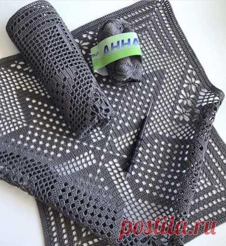 Салфетка+ схема Можно использовать как наволочки для подушек