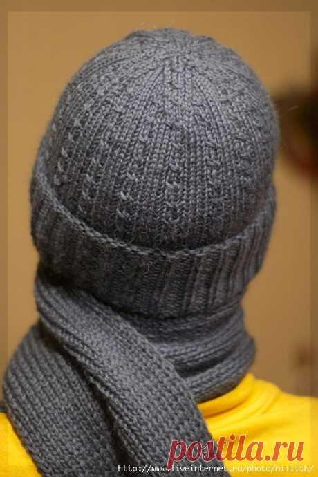 Мужские шапка и шарф
