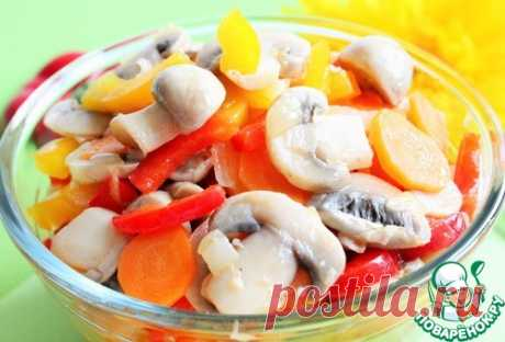 Салат из шампиньонов по-корейски – кулинарный рецепт