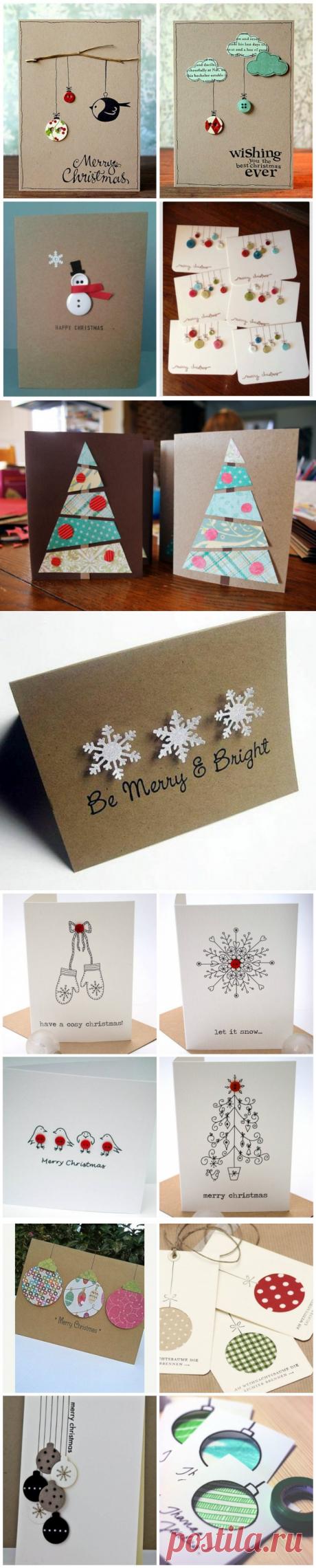 40 новогодних открыток, которые можно сделать за полчаса