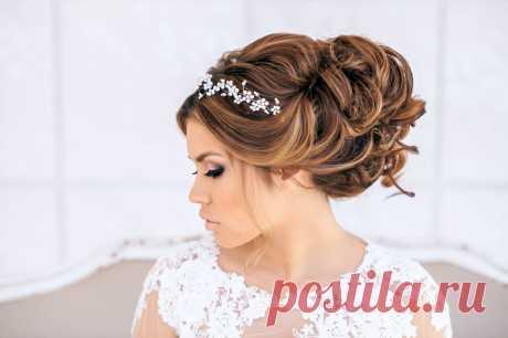Красивые свадебные прически на короткие, средние и длинные волосы, фото