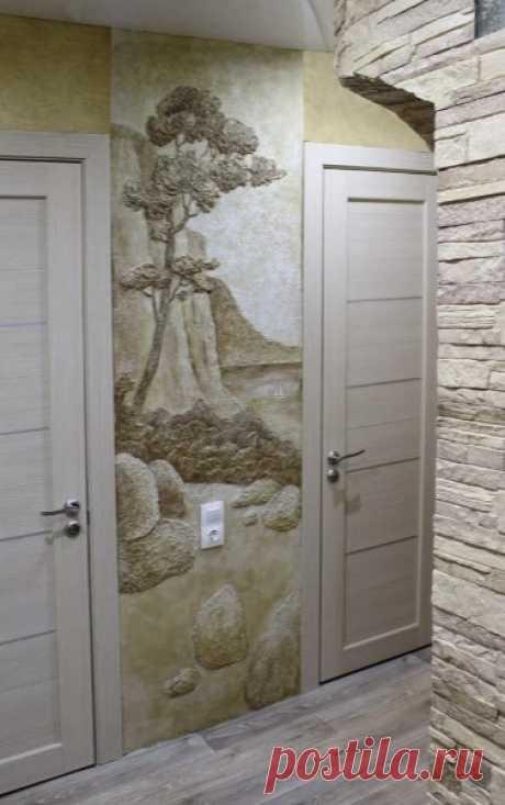 Рельефная роспись стен | Роскошь и уют