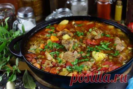 Азу по-татарски с солеными огурцами: рецепт с фото с картошкой | Простые рецепты с фото
