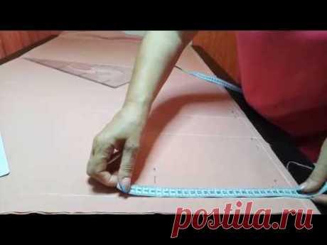 Шьем брюки из льна с отрезным бочком. Часть 1 КРОЙ