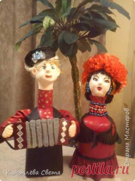 куклы из бутылок | Страна Мастеров