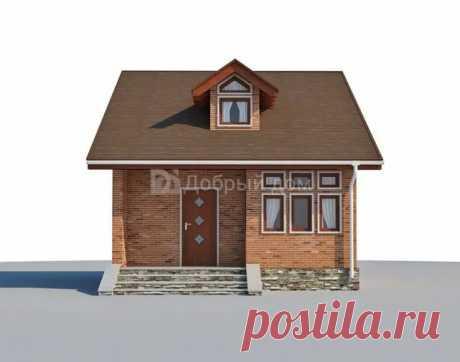Проект маленького двухэтажного дома AS-2302 из газобетона