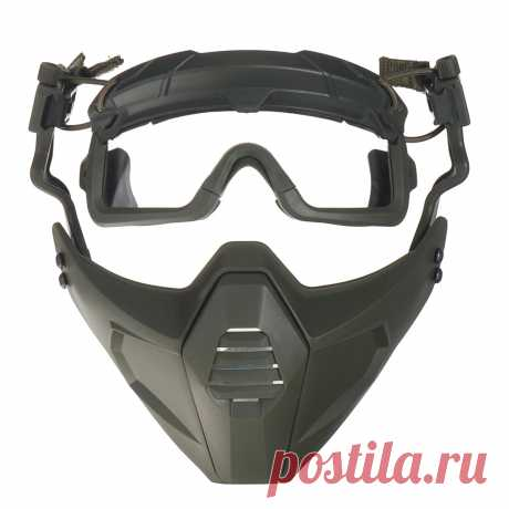 Military tactical multi-dimensional half face mask breathable cs cosplay costume Sale - Banggood.com