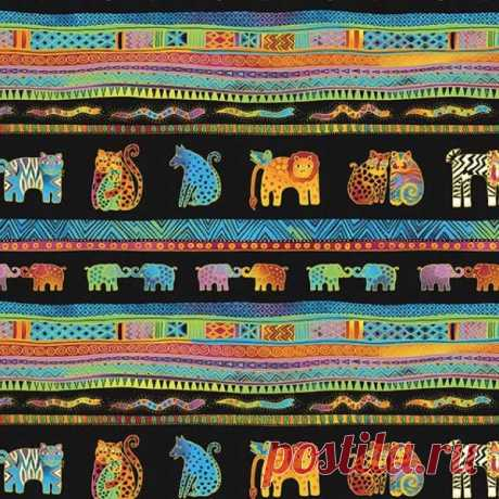 Shop Clothworks Fabrics Mythical Jungle by Laurel Burch | Quilting Fabric | Hancock's of Paducah