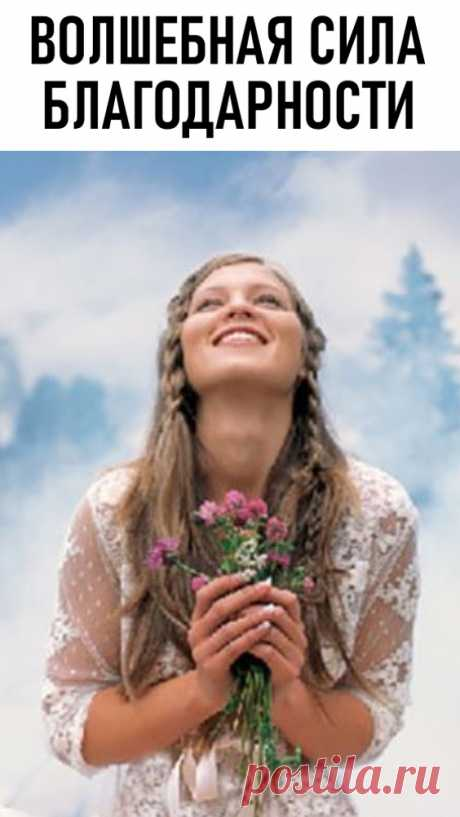 Волшебная сила благодарности