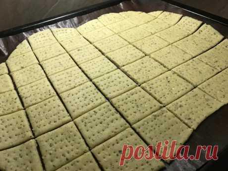 Хрустящие крекеры за 5 минут: проще некуда   Рецепты от Катрин :)   Яндекс Дзен