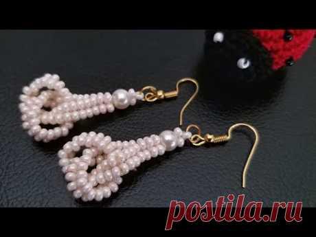 ⚜️ Knotted Beaded Earrings ⚜️ Seed bead earrings (0136)