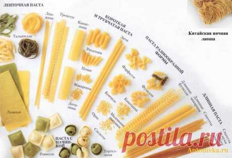 Types of the Italian macaroni (paste) and their appointment\/\/OPTIMIST