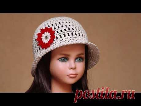 Шляпа крючком | Как связать летнюю шляпу крючком