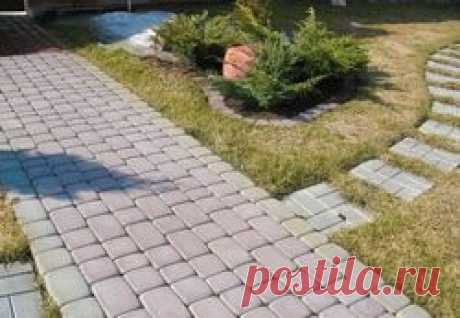 How to make a tile for garden paths at the dacha with own hands
