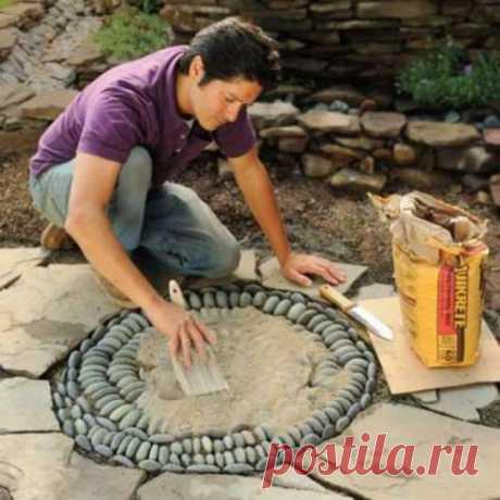 crafts for gadern: mosaic of pebbles tutorial | make handmade, crochet, craft