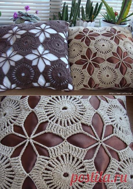 Вязание крючком декоративного чехла для подушки — HandMade