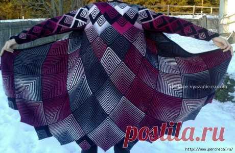 Модели вязаной одежды в технике пэчворк спицами