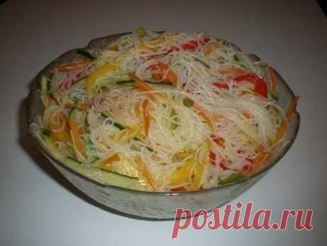 Как приготовить фунчоза с овощами. - рецепт, ингредиенты и фотографии