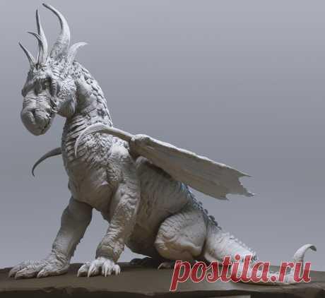 ArtStation - Jaemin Kim`s dragon sculpt, Maria Panfilova
