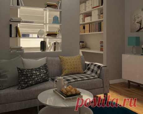 Идея интерьера квартиры 38 кв м