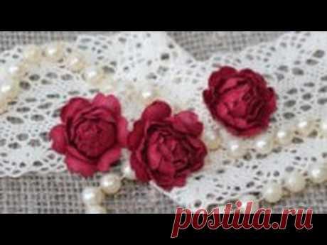 Розы для скрапбукинга из бумаги