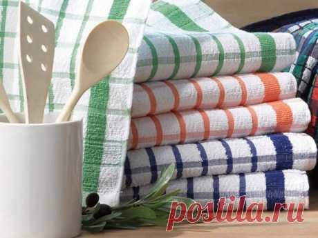Отстирываем кухонные полотенца любой сложности — Полезные советы