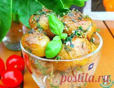 Ароматный картофель с базиликом – кулинарный рецепт
