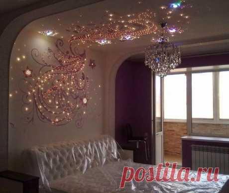 Волшебный декор. Вы бы сделали в своей спальне такой?