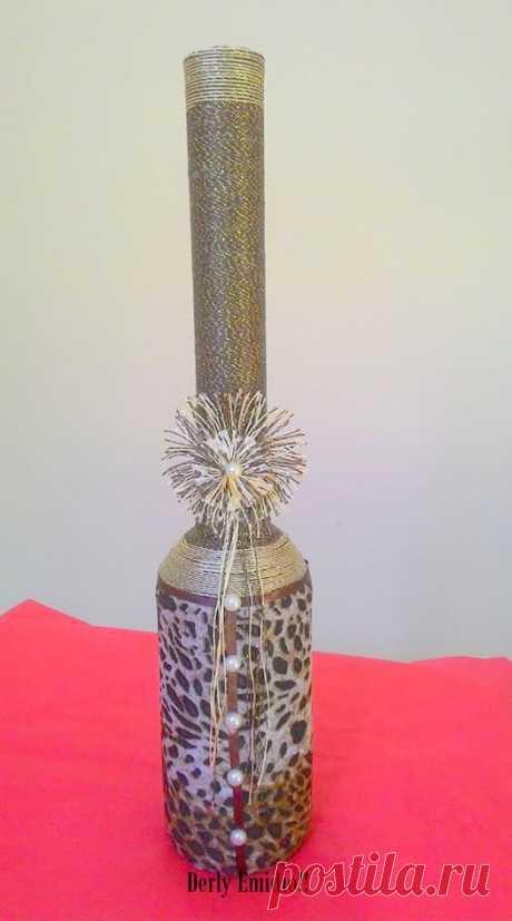 Derly Emidio!!! Garrafas decoradas !!!