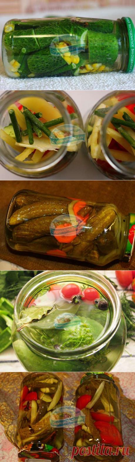 Очень вкусные маринованные огурцы на зиму в банках. 10 лучших рецептов с фото!