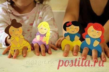 Пальчиковые куклы — Поделки с детьми