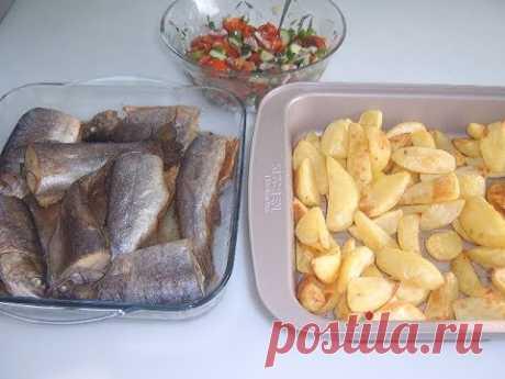 Постное блюдо Картофель и рыба