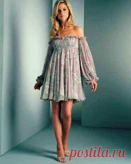 Выкройка интересного и стильного летнего платья (Шитье и крой)   Журнал Вдохновение Рукодельницы