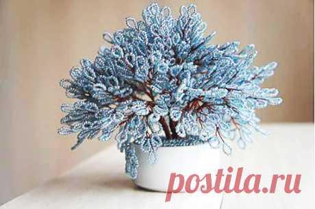 Чудесное деревце счастья из бисера