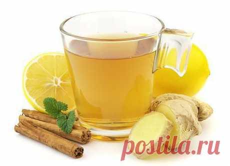 Имбирный чай при простуде и для похудения.
