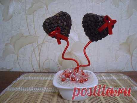 Кофейная пара - валентинки