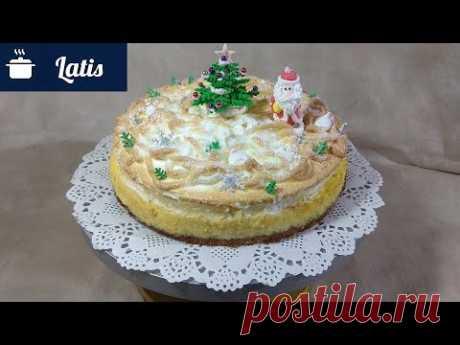Новогодний воздушный, нежный, снежный творожный торт!