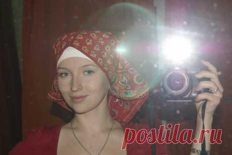 О платках... и не только • Просмотр темы - Как носить платки на голове?
