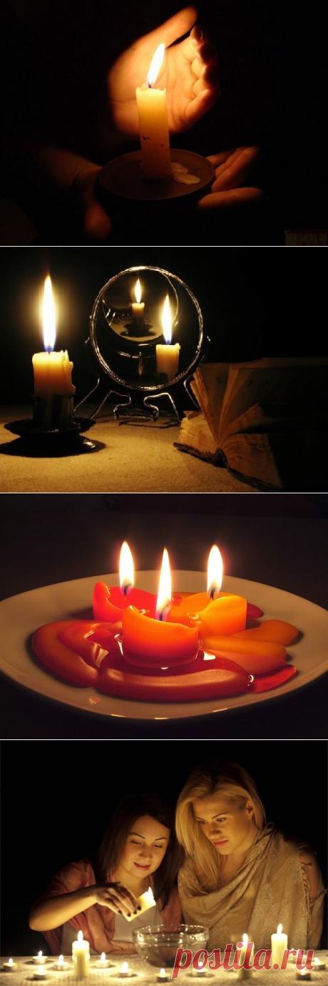 Гадания на свече и воде