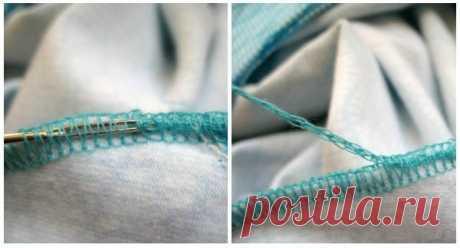 """Как закреплять """"хвостик"""", который остаётся после обработки срезов изделия на оверлоке"""