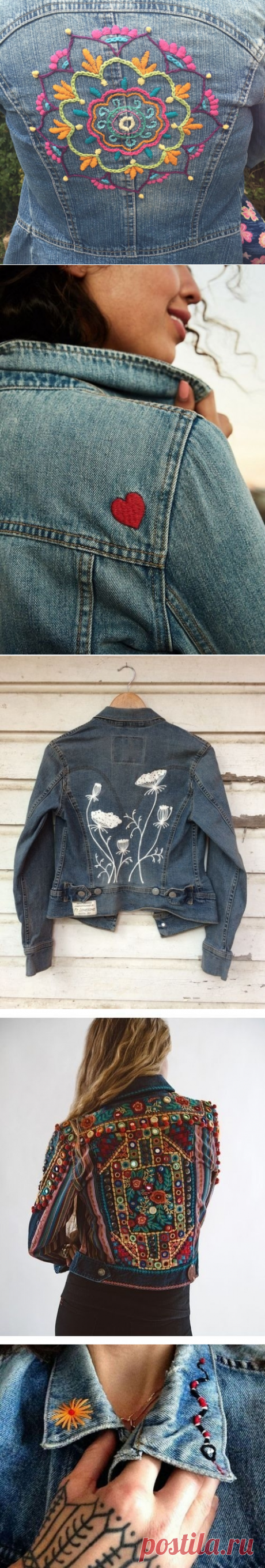 We decorate a jeans jacket with an embroidery: a master class and 33 ideas for inspiration — Master classes on BurdaStyle.ru