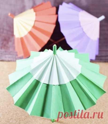 Бумажные зонтики — Поделки с детьми