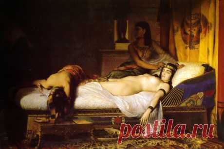«Смерть Клеопатры», хужожник Жан-Андрэ Риксан (1874 г.)