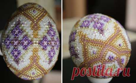 Easter eggs with schemes (from the Internet) \/ Beads \/ Various hand-made articles from beads: schemes, master classes