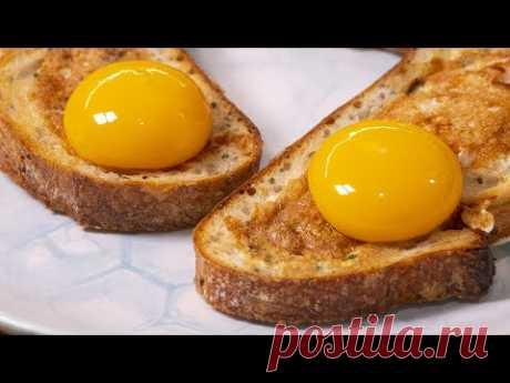 Теперь делать яичницу на завтрак вы будете, только так. Бутерброды из яиц.