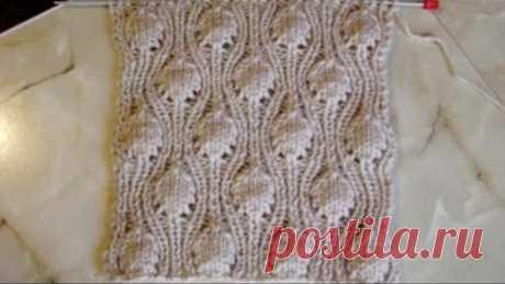 Volume pattern large shishechka Knitting by Videouroki's spokes